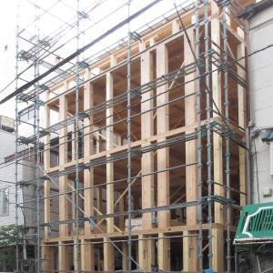 台東区西浅草木造4階建耐火建築物ホテルプロジェクト 上棟