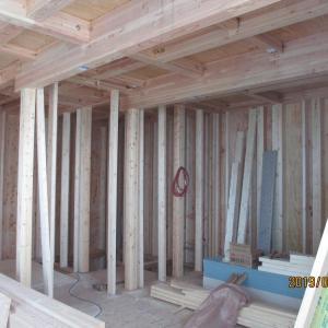 台東区西浅草木造4階建耐火建築物ホテルプロジェクト 外周構造用合板貼