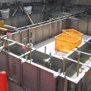 台東区西浅草木造4階建耐火建築物ホテルプロジェクト 基礎コンクリート打設