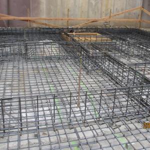 台東区西浅草木造4階建耐火建築物ホテルプロジェクト 基礎配筋