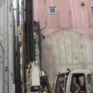 台東区西浅草木造4階建耐火建築物ホテルプロジェクト 地盤改良杭工事