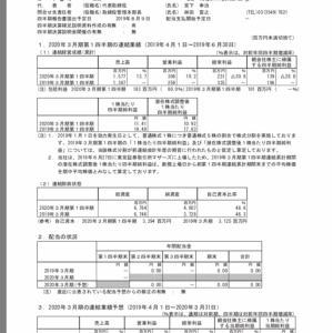 決算発表 IPS(4390) 2020年3月期第1四半期