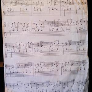 手描きの楽譜を晒す♬