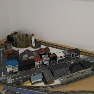 市街地の電飾化作業(1)
