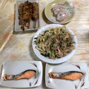 【残飯もどき※】冷蔵庫の中を掻き集めた今夜の夕食⭐️