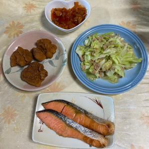 【2021/09/21※】夫の要求・オカズ2品の質素な食卓⭐️