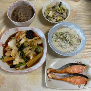 【2021/09/23※】夫の要求・オカズ2品の質素な食卓⭐️