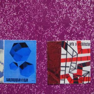 【新作】2.<青い石は>2011年 制作 コラージュ作品