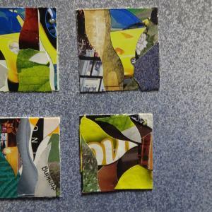 【新作】4.<虹の光が>2011年 制作 コラージュ作品