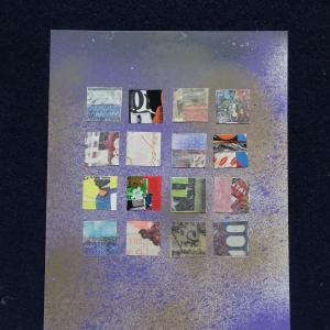 【新作】1.<秋の風を訪ね>2011年 制作 コラージュ作品