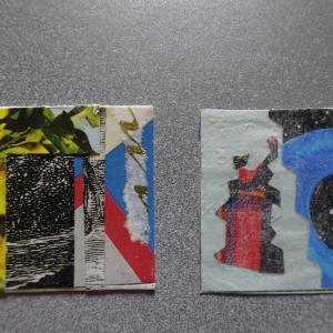 【新作】2.<あの夏の夕陽を想い>2011年 制作 コラージュ作品