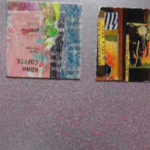 【新作】5.<あの夏の夕陽を想い>2011年 制作 コラージュ作品