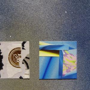 【新作】2.<恋は手紙と共に>2011年 制作 コラージュ作品