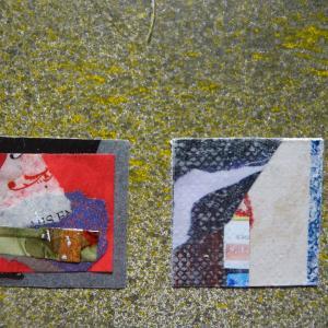 【新作】2.<展覧会の夜を>2011年 制作 コラージュ作品