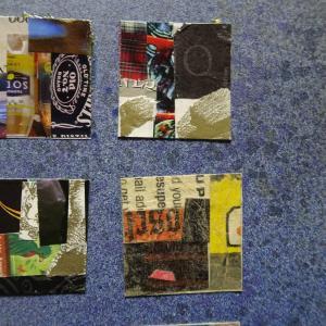 【新作】4.<羽ばたく大きな蝶>2011年 制作 コラージュ作品