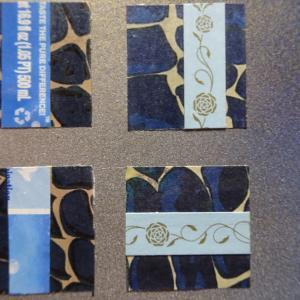【新作】4.<青いバラの世界に>2011年 制作 コラージュ作品