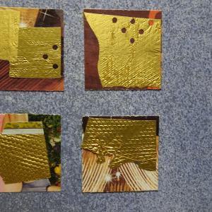 【新作】4.<黄金の国へ>2011年 制作 コラージュ作品