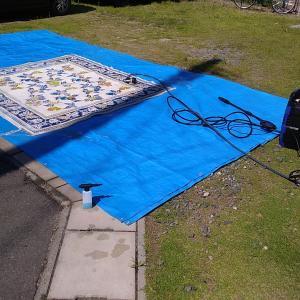 夏だ!高圧洗浄機でカーペット洗濯