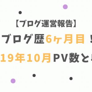 ブログ運営報告】ブログ歴6ヶ月目!2019年9月PV数と収益