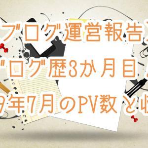 【ブログ運営報告】ブログ歴3ヶ月目!2019年7月PV数と収益