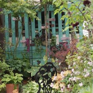 お店の横の庭をリメイク中。