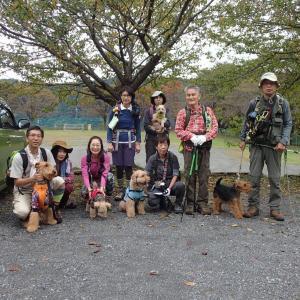 第37回犬連れトレイルの会の模様(通算89回目)。