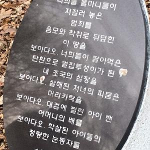 詩で思いを寄せる ー光州5.18民主化墓地より2ー