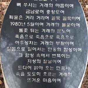 詩で思いを寄せるー光州5.18民主化墓地より5ー