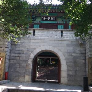 釜山市内にある日本式の石垣  子城台(釜山鎮支城)