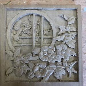 木彫(椿と梅)その2