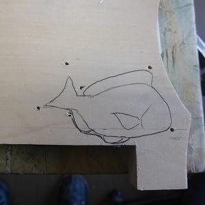 鯛を彫ってみました。