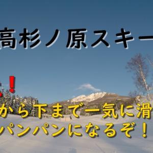 【注意】妙高杉ノ原スキー場で上から下まで一気に滑ると足パンパンになるぞ!