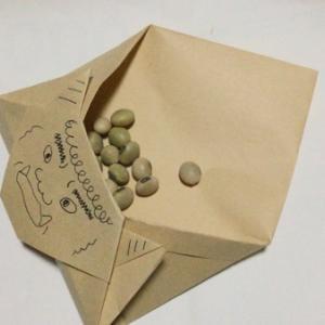 節分の折り紙:豆入れ手作り折り紙 鬼の作り方【季節の簡単折り紙】