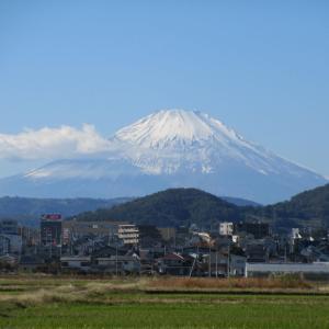 快晴!富士山だぁ