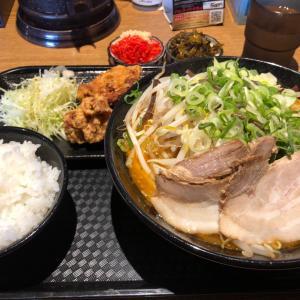 野菜味噌ラーメン・唐揚げセット 天神大垣本店