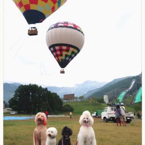 熱気球に乗る