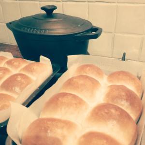 風邪、雨、パン作り