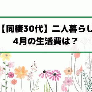 【同棲30代】二人暮らし 4月の生活費は?