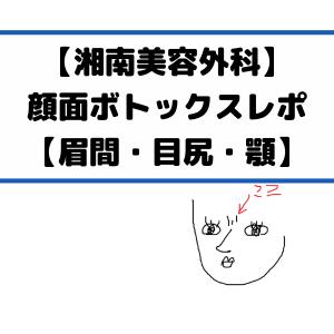 【湘南美容外科】顔面ボトックスレポ【眉間・目尻・顎】