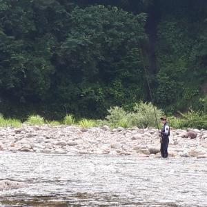 20200711鮎釣り③新潟県阿賀野川支流釣行