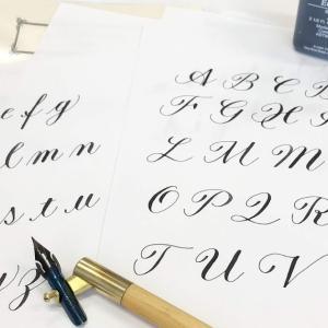 金属ペンで書くカリグラフィー教室(思いを届けるカードを作る)番外編