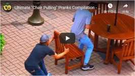 椅子を引いたり、ベンチで座っている人の靴ひもを結ぶ!イタズラ 海外 おもしろ アメリカ