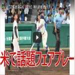 【花咲徳栄高校・菅原】明石商業 戦のフェアプレー弾が米でも脚光 デッドボール ホームラン