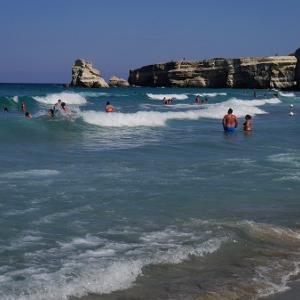 バカンス2日目は、アドリア海のビーチ、トッレ・デッロルソ