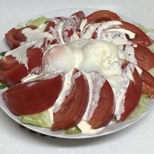 レッツ・クッキング(温玉シーザーサラダ、やみつきキムチやっこ&豚肉の洋風手抜き炒め)
