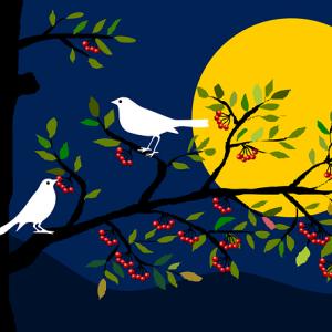 「妖怪と何かは闇夜に出る?」アート芸術系4コマ漫画「美観の人々」と童画 秋野あかね美術館ブログ