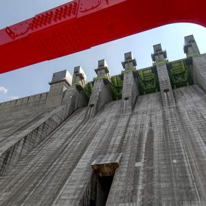 放流設備が充実!新しくて綺麗な八ッ場ダム (2021/7/31)