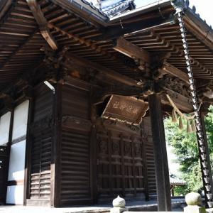 血洗島諏訪神社 本殿の扁額