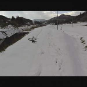 スノーユニサイクリング(雪上一輪車)~犬と一緒に~