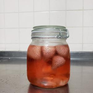 イチゴのお酒、作ってみた
